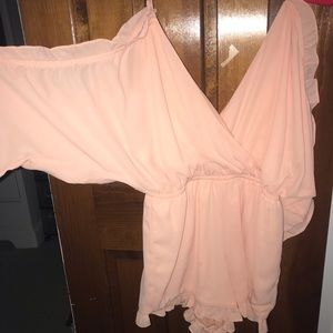 XS Pink Romper. Worn once.